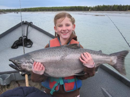 Kasilof river king salmon