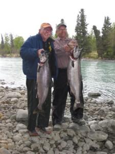 Kasilof River King salmon fishing