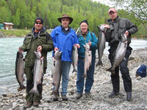 Kasilof river fishing Alaska
