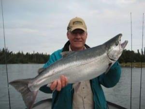 Silver salmon fishing alaska