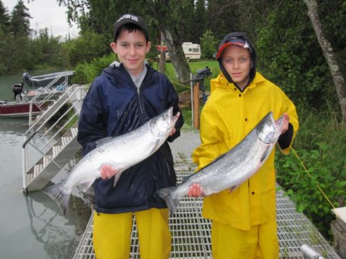 august silver salmon