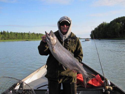 Kasilof kings june 13 001 jim rusk fishing guide alaska for Kenai river fishing report