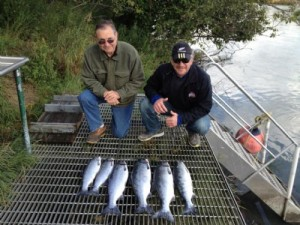 Daily Kenai fishing report september Two men and silver salmon