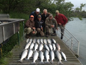 red salmon fishing