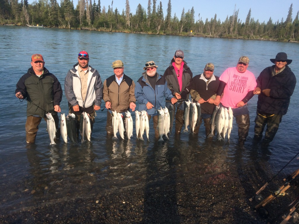 17 sockeye Salmon caught by these eight anglers. Sockeye salmon second run